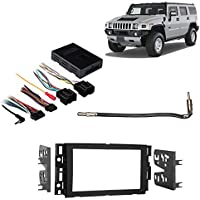 Fits Hummer H2 2008-2009 Double DIN Aftermarket Harness Radio Install Dash Kit