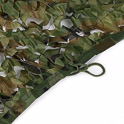 Oarea, red con decoración de camuflaje para casetas de caza