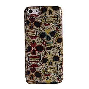 GONGXI Colorful Skulls Pattern Hard Case for iPhone 5C
