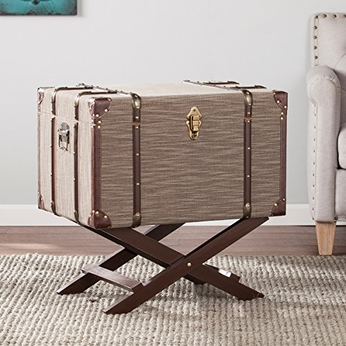 Upton Home Doane Linen Trunk File Storage, OS9037OH by Upton Home