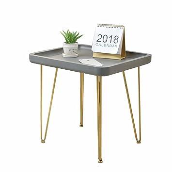 Hongsezhuozi Tische Tee Tisch Couchtisch American Minimalist Imitation  Zement Wohnzimmer Einfach Schmiedeeisen Platz Tisch Terrasse Mini