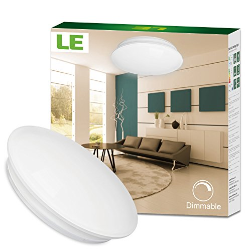 Le Dimmable 40w 19 3 Inch Led Flush Mount Ceiling Light Fixtures 225w Incandescent 80w Fluorescent Bulbs Equivalent 2800lm Warm White 3000k