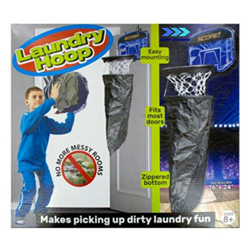 Laundry hamper basketball hoop durable over the door mounted dirty clothes basket by ever onward - Basketball hoop laundry hamper ...