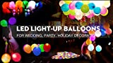 LED Balloons! 40 Pack Mixed Color, 12 inch LED Light up Balloons!