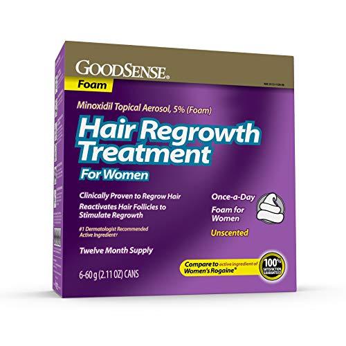 GoodSense Hair Regrowth Treatment For Women, Minoxidil Topical Aerosol, 5% (Foam), 12.66 Ounce