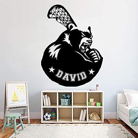 Lacrosse Nombre personalizado Tatuajes de pared Logotipo de ...