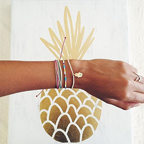 Pura Vida Jewelry Bracelets – 100% Waterproof and Handmade w/Coated Charm, Adjustable Band