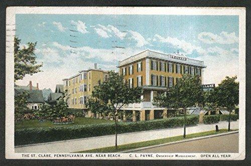 The St Clare Pennsylvania Ave Atlantic City NJ postcard 1926 C L Payne (Atlantic City Nj Postcard)