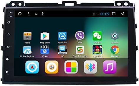 Wekuo Radio GPS de DVD de coche de 9 pulgadas con pantalla grande de cuatro núcleos Android 7.1 para Toyota Prado 120 2004 2005 2006 2007 2008 2009 ...
