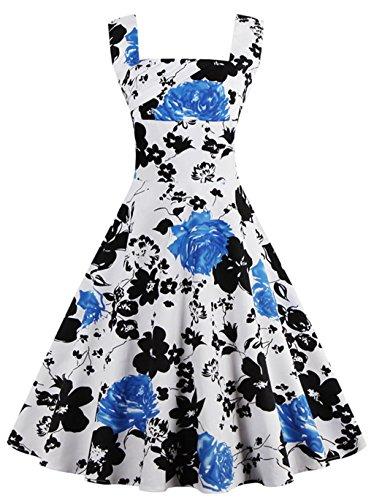 Vintage Flower Print Dress - 3
