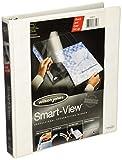Wilson Jones Smart-View Vinyl Round Ring Binder, 1 Inch Capacity, White (W36610)