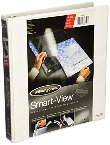 [Wilson Jones Smart-View Vinyl Round Ring Binder, 1 Inch Capacity, White (W36610)] (Smartview Vinyl Binders)
