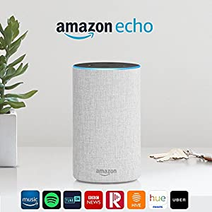 Amazon Echo (2nd Gen) - Smart speaker with Alexa - Sandstone Fabric