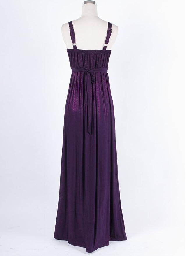 Medeshe largo dama noche fiesta Prom Maxi vestido Empire estilo: Amazon.es: Ropa y accesorios