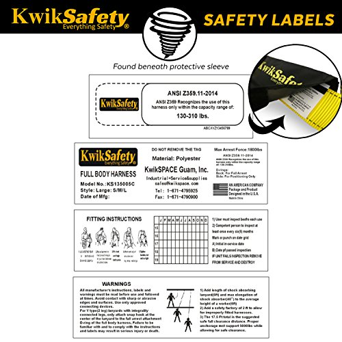 KwikSafety (Charlotte, NC) 2 PACK TORNADO 1D Fall Protection Full Body Safety Harness   OSHA ANSI Industrial Roofing Personal Protection Equipment   Construction Carpenter Scaffolding Contractor by KwikSafety (Image #5)