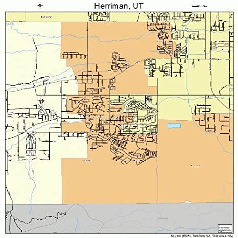 Amazon Com Image Trader Large Street Road Map Of Herriman Utah