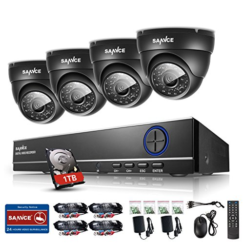 New-720P-Sannce-4CH-AHD-720P-DVR-Recorder-1TB-Hard-Drive-Home-Security-System-with-4xHD-10MP1280720-Weatherproof-Indoor-Outdoor-Day-Night-CCTV-Cameras-Surveillance-System