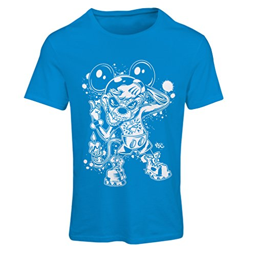 lepni.me Women's T-Shirt A Mouse with an Amazing Halloween Party Costume (X-Large Blue Multi Color)