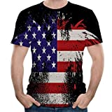 Eoeth Men's Sport Clothing Summer Casual Short Sleeve Round Neck Shirt Printed T-Shirts Tops Pullover Black