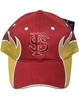 Florida State Seminoles Flames Adjustable Velcro Back Hat Cap