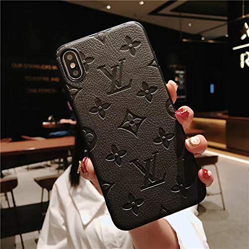 (Phone case for iPhone 8 Case, iPhone7 Case, Sumptuous Imprinted Leather Designer Momgram Pattern Protective Case iPhone7, iPhone8)