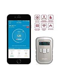 AiRead N1   Monitor de calidad de aire en tiempo real (2,5 pulgadas, HCHO Temp HUM, multi prueba, con aplicación inteligente y sensor láser de alta precisión, sensor de posición de aire interior, lector de medidor de temperatura