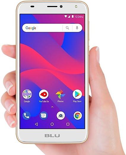 BLU C6 C031P Teléfono Android Desbloqueado gsm de Doble SIM con cámara Dual de 8 MP y 2 MP, Color Dorado: Amazon.es: Electrónica