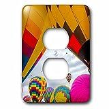 3dRose Danita Delimont - hot air balloons - The Albuquerque Balloon Fiesta, Albuquerque, New Mexico - Light Switch Covers - 2 plug outlet cover (lsp_259742_6)