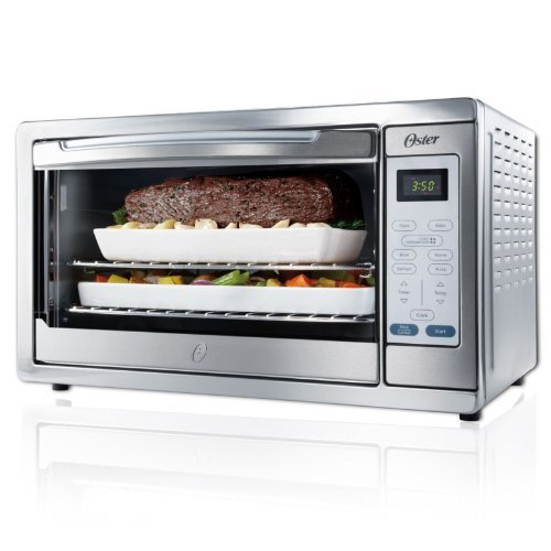 Stainless Steel Extra Large Convection Toaster Oven for Baking, Broiling, Toasting, and Defrosting Food