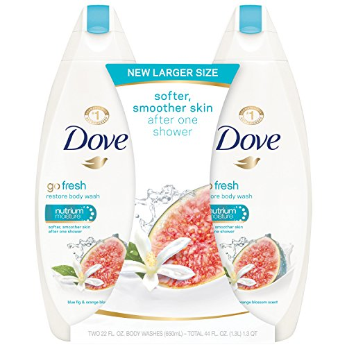 Dove Hydrating Body Wash - Dove go fresh Body Wash, Blue Fig and Orange Blossom, 22 oz, Twin Pack