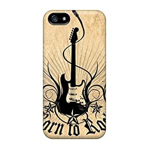 Iphone 4/4S Case Cover - Slim Fit Tpu Protector Shock Absorbent Case (born To Rock)