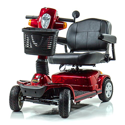 - Pride Maxima Bariatric 4-Wheel HD Electric Scooter Red + Challenger Mobility Trailer