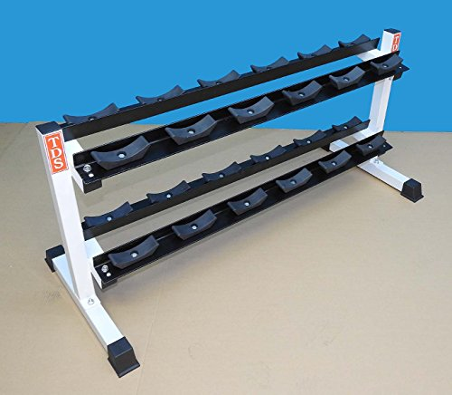 Heavy Duty Two Tier Dumbell Rack 52″ long with 24 Saddles