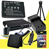 Battery Kit for Panasonic Lumix DMC-FP5, DMC-FH27, DMC-FH25, DMC-FH5, DMC-FH2, DMC-FP7, DMC-S1, DMC-S3, DMC-FX78, DMC-FX90 Includes DMW-BCK7 Replacement Lithium Ion Battery w/Charger + Memory Card Reader/Wallet + Deluxe Starter Kit DavisMAX Accessory Bundle