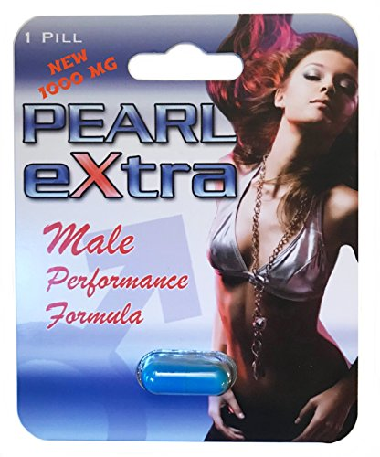 Pearl Extra All Natural Male Performance Enhancement Supplement, Testosterone Booster Energy, Stamina and Endurance with L Arginine - 1000 MG - 6 Capsules by Pearl Extra
