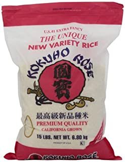 Kokuho Rose Rice, 15-Pound (B0074L3QZ4) | Amazon price tracker / tracking, Amazon price history charts, Amazon price watches, Amazon price drop alerts