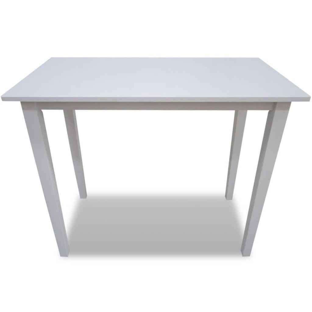 Tidyard Table de Bar//Table Console pour Cuisine//Salle /à Manger Style El/égant Blanc 110 x 60 x 90,8 cm