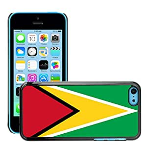 GoGoMobile Etui Housse Coque de Protection Cover Rigide pour // V00001072 guyana bandera nacional País // Apple iPhone 5C
