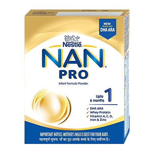Nestle NAN PRO 1 Infant Formula with Probiotic (Up to 6 months), Stage 1-400g Bag-In-Box Pack