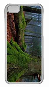 Customized iphone 5C PC Transparent Case - Fallen Tree In The Forest Personalized Cover
