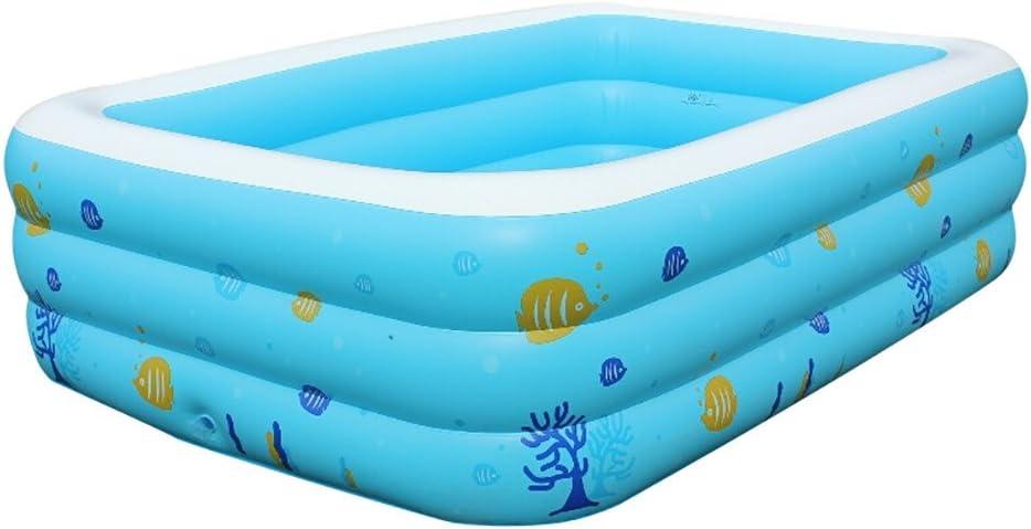 SYY Rectangular Familienpool, Grandes aufblasbare Wasserspielzeug Luftmatratze, Pool Lounge, Swimmingpool para jardín, Planschbecken 130×90×50 cm