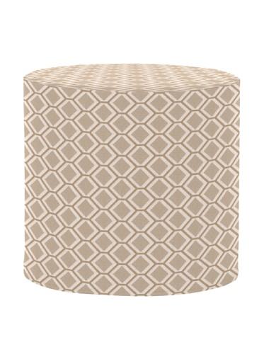 Howard Elliott Q851-211 Geo No Tip Cylinder Ottoman, Stone