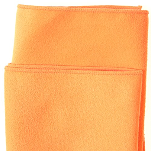 Brushed Suede Microfiber Cloths (Orange, 100)