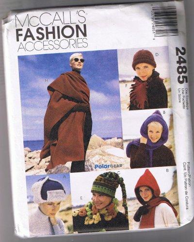 McCall's Pattern 2485 ©1999 Polar Fleece Fashion; Scarf, Cape, Wrap, Hat - Polar Fleece Hat Patterns