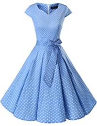 Retro 1950s Cocktail Dresses Vintage Swing Dress with Cap-Sleeves