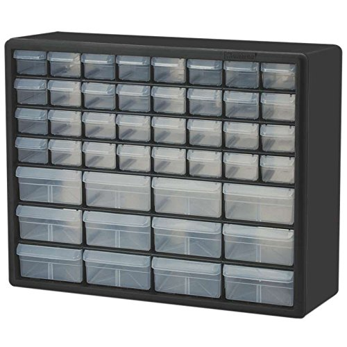 Plastic Storage Cabinet with 44 Drawers (32 small, 12 large), 20 x 15-13/16 x 6-3/8'