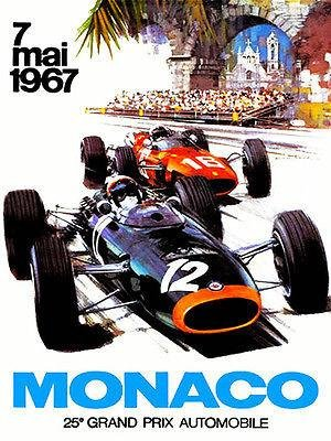 - 1967 Monaco Grand Prix Race - Promotional Advertising Poster