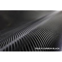 Black True R Carbon Fiber 5ft x 6ft Vinyl Wrap Roll with Air Release Technology