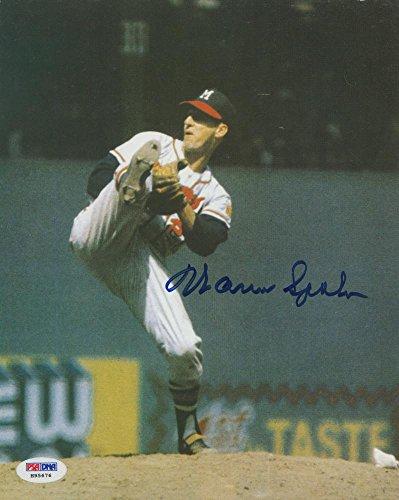 (JEM Warren Spahn Signed Orioles 8x10 Photo (PSA COA))