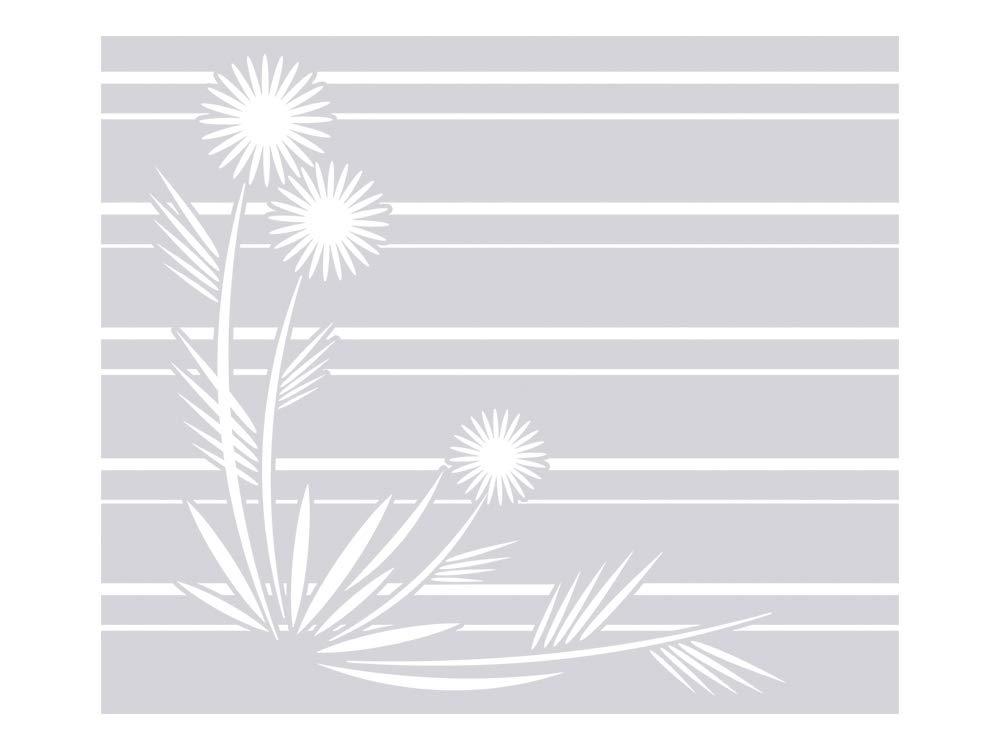 GRAZDesign 990013_110x57 Sichtschutzfolie Blaumen mit Streifen   Folie Sandstrahloptik für Bad   Michlglasfolie für die Innenmontage (110x57cm)